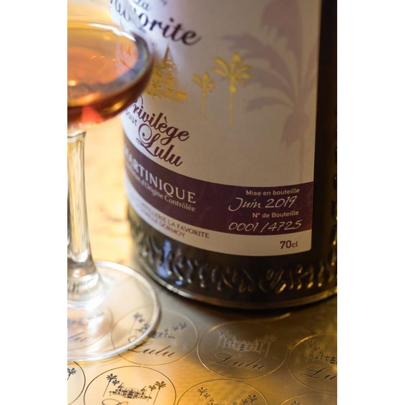 La Favorite - Rhum hors d'âge - Cuvée Privilège Lulu - 70cl - 45°-lileoumerveilles.com