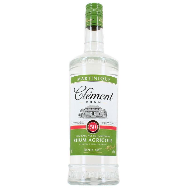 clément- rhum-blanc-1l-50°-rhum-agricole-martinique-rhum clément 1 litre-rum clément-lileoumerveilles.com